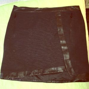Gently Worn leather Helmut Lang Skirt